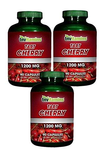 TNVitamins Tart Cherry Extract 1200 Mg (270 Capsules) NON-GMO