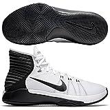 Womens Nike Prime Hype DF 2016 Basketball Shoe (12, White/Black/Anthracite/Pure Purple)