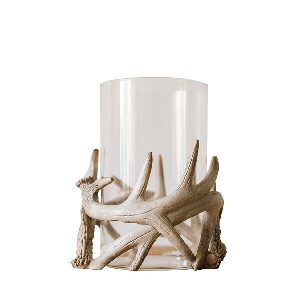 Unique Antlers Design Candle Holder Votive Candle Lantern Decoration(No Candle) by RockTrend (Image #1)