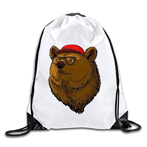 FOODE Ear Cap Sunglasses Hipster Bear Drawstring Backpack Sack - Sunglasses Awesome Oakley