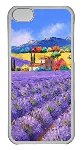 iPhone 5C Cases, iPhone 5C Case - French Country Style Painting Custom PC Case Cover For iPhone 5C - Tranparent
