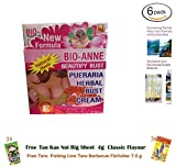 Special Sets : 6 Packs of New Formula !! Bio Anne Beautify Bust Pueraria Nature Herbal Bust / Breast Enlargemant Cream 60g + Bust soap 50g...