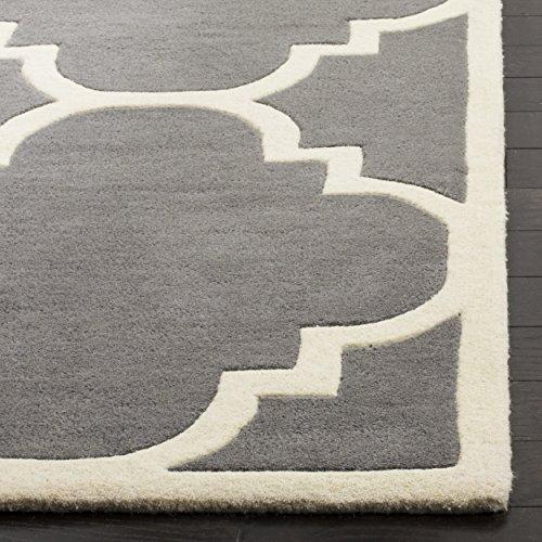 683726576488 - Safavieh Chatham Collection CHT730D Handmade Dark Grey and Ivory Premium Wool Area Rug (11' x 15') carousel main 1
