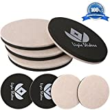 8-Pack Reusable Round Felt Furniture Moving Sliders,4-Pack 5'' Felt Slider Plus 4-Pack 3.5'' Felt Furniture Sliders for Wood Floor,Furniture Slider,Felt Sliders,Furniture Mover
