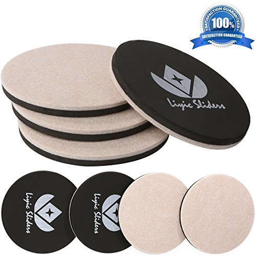 8 Pack Reusable Round Felt Furniture Moving Sliders,4 Pack 5u0027u0027
