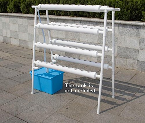 Double Side 8 Pipe Hydroponic 70 Plant Site Grow Kit Hydroponics Planting Equipment #141078 (Deep Planter)