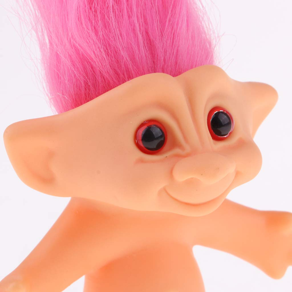 Naranja F Fityle Juguete de Figuras de Mini Acci/ón Mu/ñeca Trolls Lucky