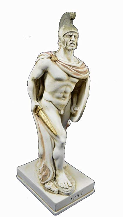 Ares Sculpture Ancient Greek God Of War Statue Amazon Co Uk