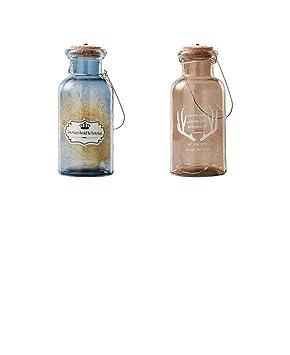 HoEOQeT Botella de Vidrio Botella de Deseos Decoración de ...