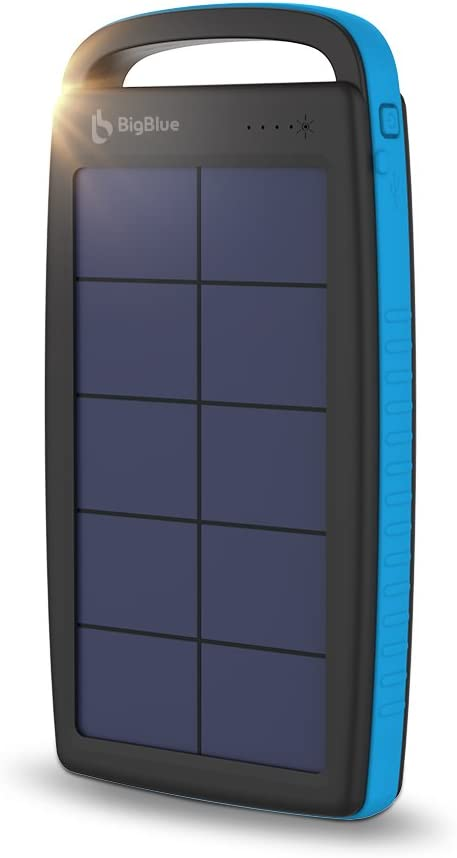 iPad Compatible with iPhone 11//Xs//XS Max//XR//X//8 Samsung Galaxy LG etc. BigBlue 15W Solar Phone Charger with Dual 5V//2.1A USB Folding Camping Solar Panels with Type-C Cable Portable Solar Charger