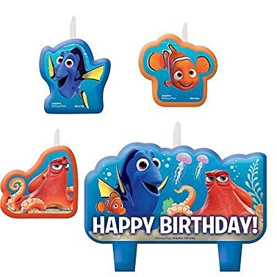 Finding Dory Birthday Candles 4 Pieces: Home & Kitchen