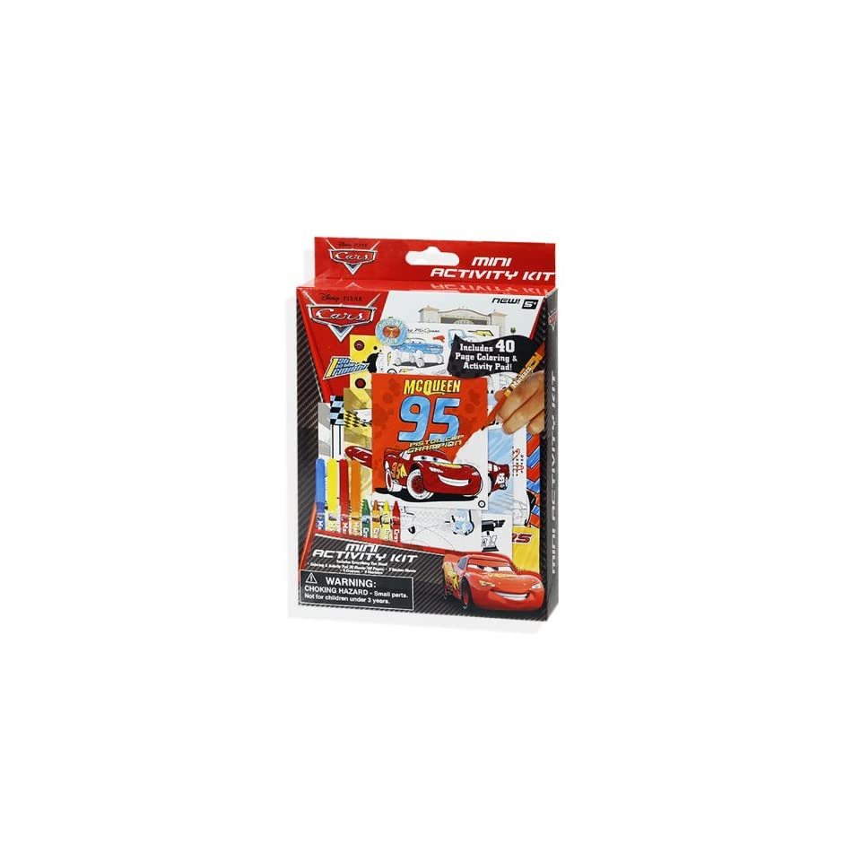 Disney Cars Create and Color Mini Activity Kit   Stickers, Coloring Pages, Markers & Crayons
