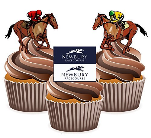 Horse Racing Newbury Mix - Edible Stand-up Cupcake Toppers by - Newbury Shopping