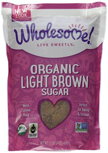 Wholesome Sweeteners Fair Trade Org Light Brown Sugar, 24 oz Pouches, 2 pk