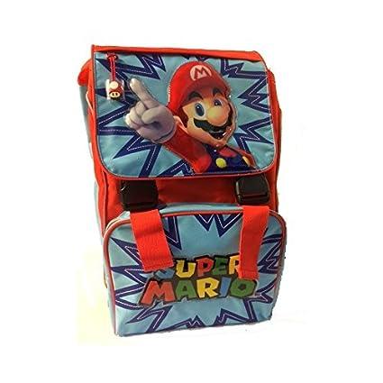 Super Mario Bros-Mochila extensible rojo-azul