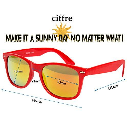 verspiegelt disponibles Nerd 80 de différents et lunettes clear W46 soleil wayfarer aviateur style Rot style de lunettes Gelb modèles coloris paire env style vintage wwBHqAf