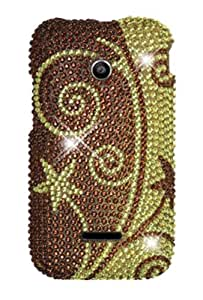 HHI Full Diamond Graphic Case for Huawei Prism 2 - Elegant Swirl (Package include a HandHelditems Sketch Stylus Pen)