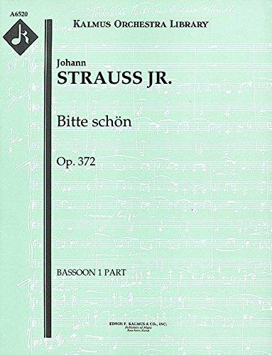 Bitte schön, Op.372: Bassoon 1 and 2 parts (Qty 2 each) [A6520]