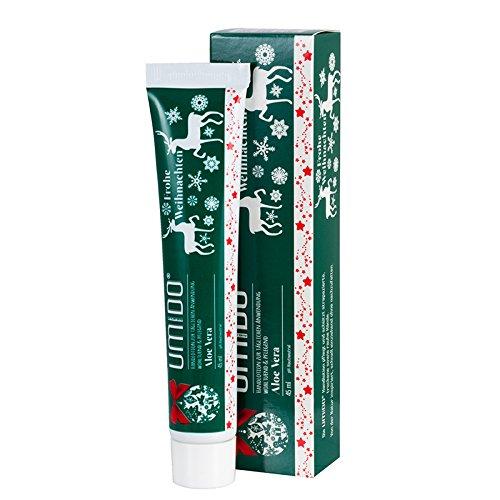 UMIDO Hand-Lotion Aloe-Vera Weihnachten, Handcreme bei trockener Haut, Feuchtigkeitspflege ohne zu fetten, Lotion sofort einziehend, Pflege-Creme für zarte Hände, für eine tägliche Hautpflege, 1 x 45 ml (1.) (7.) Colour-Bags