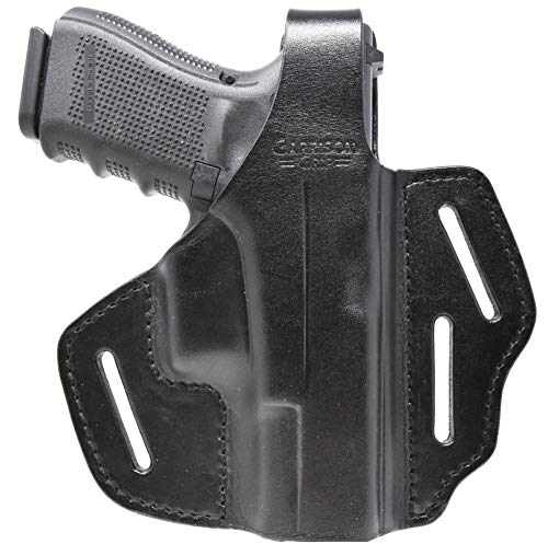 Garrison Grip Black Italian Leather 2 Position Tactical Holster for All Large Glock Models 17 18 19 22 23 24 25 31 32 34 35 37 38