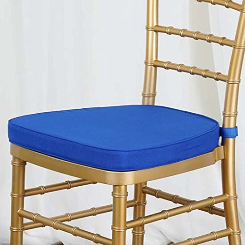 Efavormart ROYAL BLUE Chiavari Chair Cushion for Wood Resin Chiavari Chairs Party Event Decoration - 2