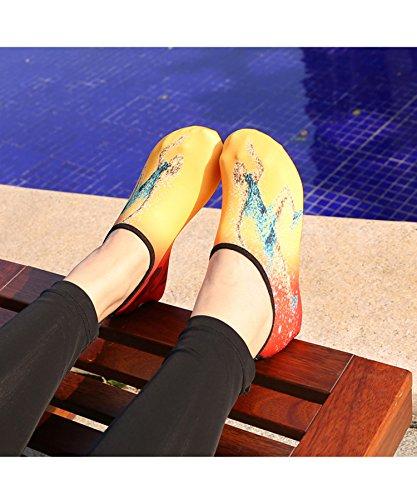 Zzlay Unisex Snabbtorkande Vatten Skor Aqua Strumpor Barfota Strand Simma Pool Surf Yoga Övning Apelsin Igång