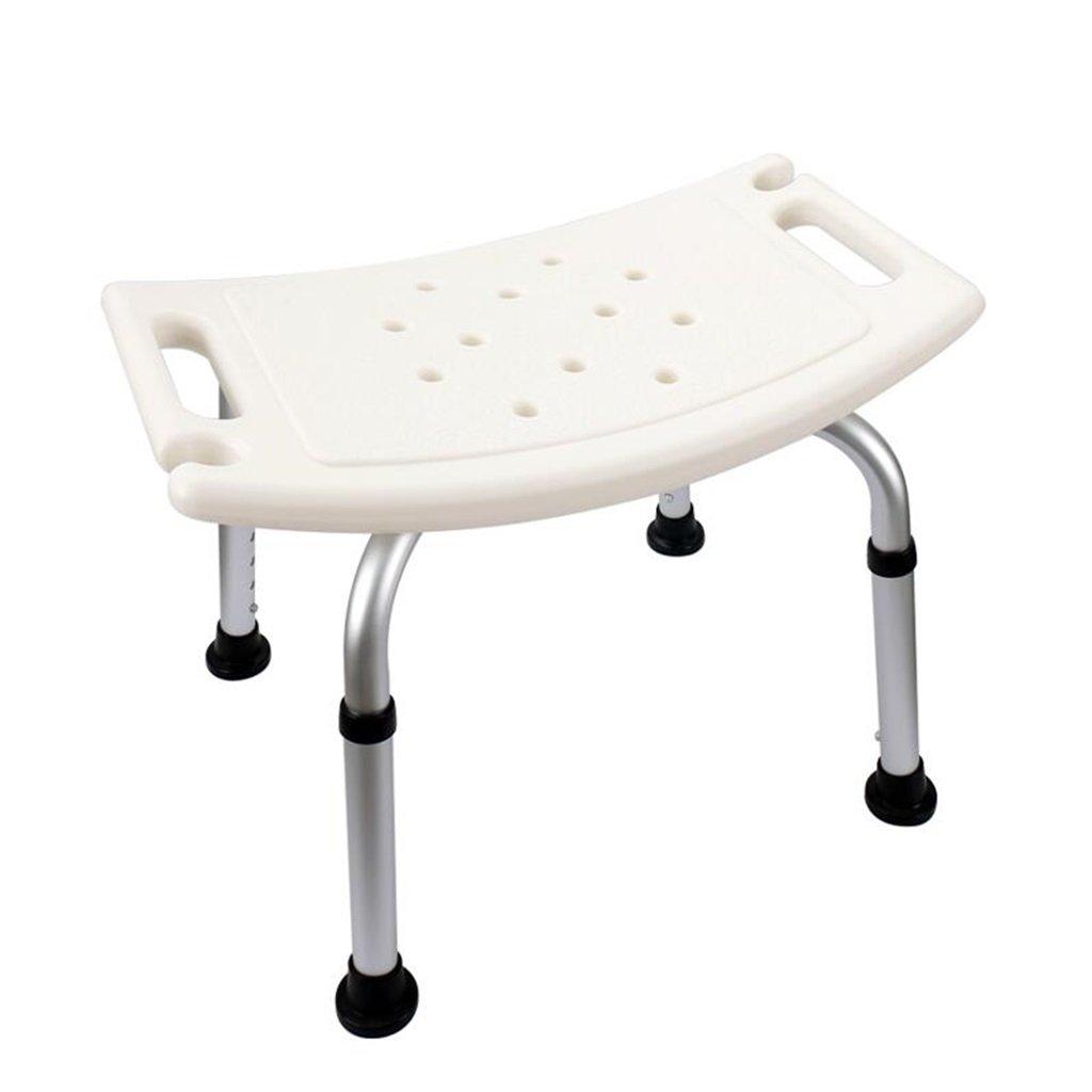 Corrimano sicuro Regolabile in altezza - Sgabello per doccia in lega di alluminio - Sedile da bagno pieghevole / Sedia da doccia / Panca da bagno - Sgabelli da doccia / vasca per anziani Disabili Aiuto per le donne incinte - - senza schienale - Sanità (bia
