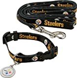 Pittsburgh Steelers Dog Collar & Leash Set