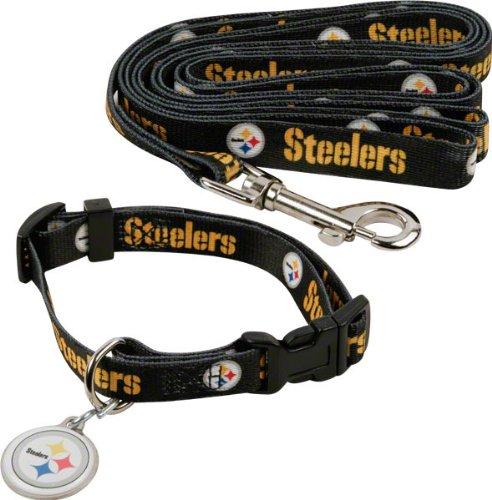 Pittsburgh Steelers Dog Collar & Leash Set