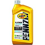Pennzoil Platinum Full Synthetic Motor Oil (SAE, SN) 0W-20, 1 Quart - Pack of 6