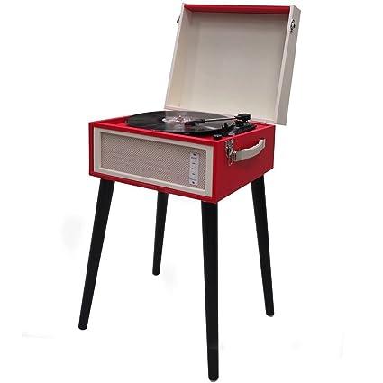 vetrineinrete® Tocadiscos con Stand Estilo Vintage Retro para ...