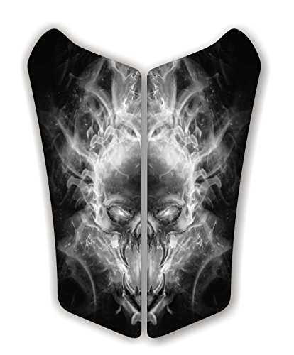 Can Am Can-AM Spyder RS Exploding SKull Black Motorcycle Tank Protector. Fits RS Years Immortal ()