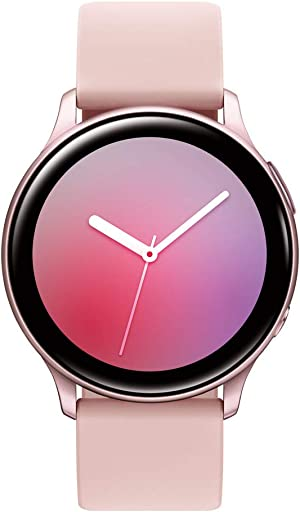 Samsung Galaxy Watch Active 2 (40mm, GPS, Bluetooth) Smart Watch with Advanced Health monitoring, Fitness Tracking , and Long lasting Battery, Pink Gold (US Version)