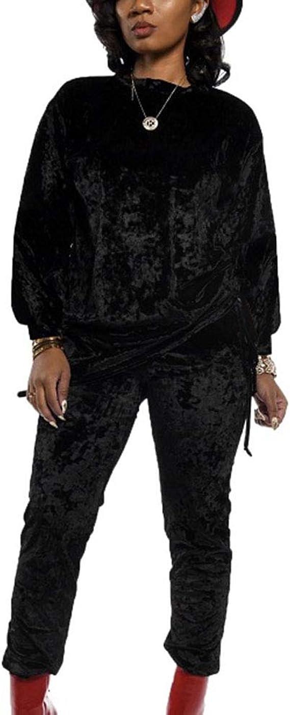 Chandal Conjunto Mujer Invierno Otono Casual Conjuntos Deportivos Moda Manga Larga Camisa Blusa Tops Pantalones Largo 2pcs Tallas Grandes Amazon Es Ropa Y Accesorios
