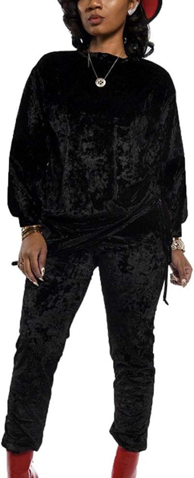 Chandal Conjunto Mujer - Invierno Otoño Casual Conjuntos Deportivos, Moda Manga Larga Camisa Blusa Tops + Pantalones Largo 2pcs Tallas Grandes: Amazon.es: Ropa y accesorios