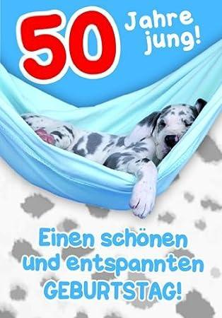 Karte Geburtstag Zahl 50 Tierisch Gut Drauf Lustig Freche