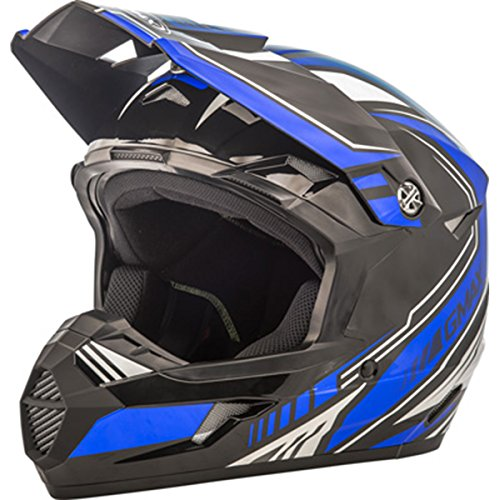GMAX Unisex-Adult Full-face Style G3467210 TC-2 Mx46 Uncle Helmet Black/Blue ys (Youth Small) ()