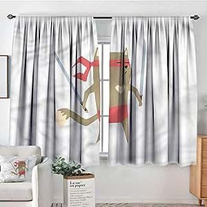 Amazon.com: Cortinas japonesas, cortinas traseras para ...