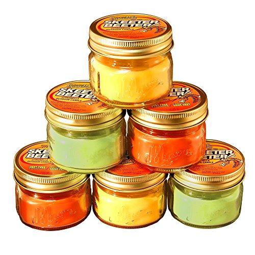 Citronella Scented Candles in 3oz Glass Mason Jars (6 Count)