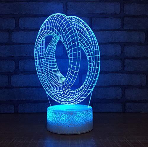 Acylic LED Abstract 3D Nachtlicht 7 Farbwechsel USB Schreibtisch Tischlampe Haus Baby Schlaf Stimmung Atmosphäre Lampe