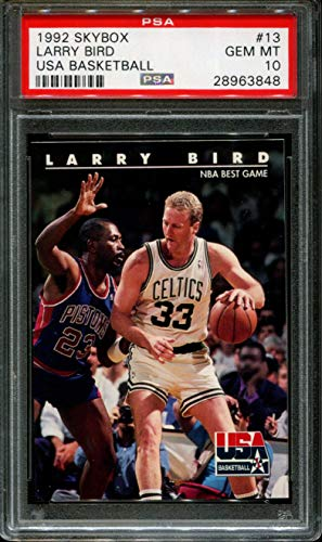1992 SKYBOX USA BASKETBALL #13 LARRY BIRD CELTICS HOF PSA 10 K2558608-848