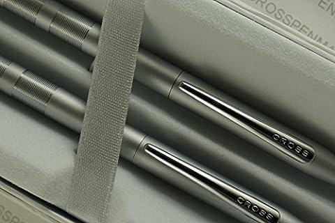 Cross century Classic diamond cut Lamina Matte Satin Pen and 0.5MM Pencil Set