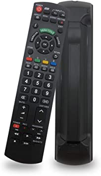 Universal Remote Control for Panasonic TV Remote Control Works for All Panasonic Plasma Viera HDTV 3D LCD LED TV - No Program Needed