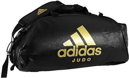 canal Calma Mancha  ADIDAS Bolsa 2 EM 1 Polyster JudoPreto/ Dourado M | Amazon.com.br
