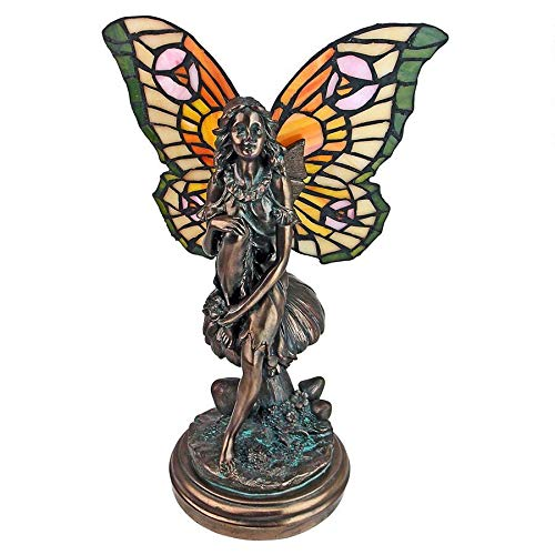 Design Toscano Fairy of the Glen Tiffany-Style Stained Glass Illuminated Sculpture