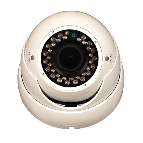 "101AV 800TVL Dome Camera 1/3"" SONY Effio-E DSP 960H CCD 2.8-12mm Varifocal Lens 100ft IR Range 36pcs Infrared LEDs WDR Wide Dynamic Range OSD Control Weatherproof Vandal proof Metal Housing High Resolution Color Wide Angle View Day Night Vision for (High Resolution Wall Mount)"