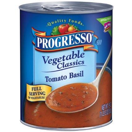 Progresso Vegetable Classics Soup, Tomato Basil, 19-Ounce ( Proves of 12 )