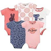 Yoga Sprout Baby Cotton Bodysuits, Free Spirit, 0-3 Months