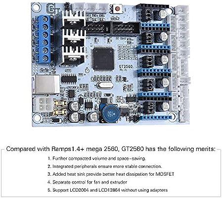 IJeilo Impresora 3D GT2560 Controlador Junta Sustituto de 2560 ...