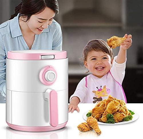 Cfbcc Électrique à air Chaud Fryer très Grande capacité 4.0L / 4.0Qt Air friteuses et Accessoires supplémentaires, des Recettes et Brochettes Accessory Set, Pink